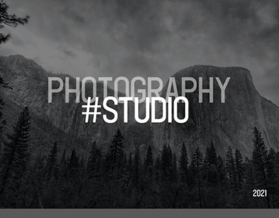 Landing page for a photographer's studio