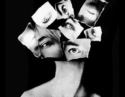 Analogic and digital Self portrait.