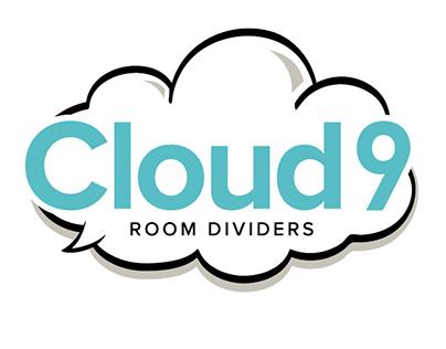 Cloud 9 Room Dividers Logo Design