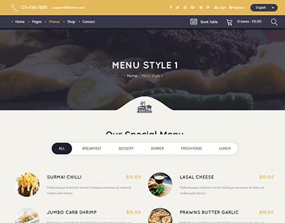 Restaurant Landing Page 2 with Wordpress Elementor