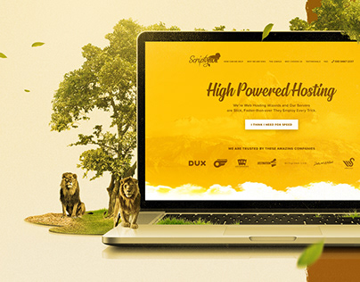 Scripty Lion Website Design