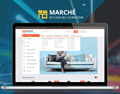 """Marche"" e-commerce template"