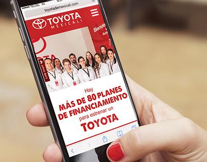 Website and mobile design for toyotamexicali.com