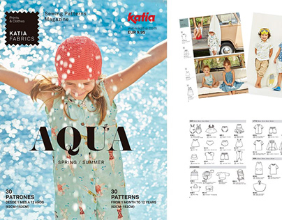 AQUA, Katia Fabrics Magazine