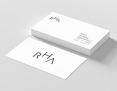 Ravi Handa Architecture RHA Logo/Branding