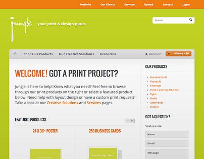 Jungle Digital Website Concept