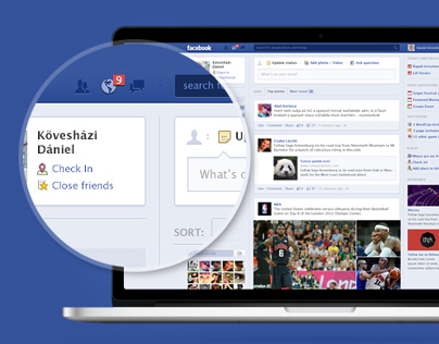 Facebook homepage - facelift concept