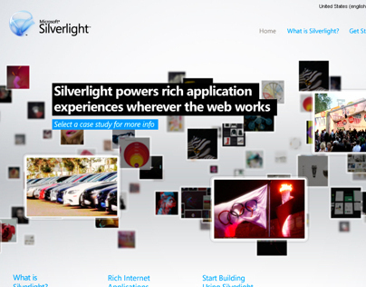 Microsoft Silverlight site redesign