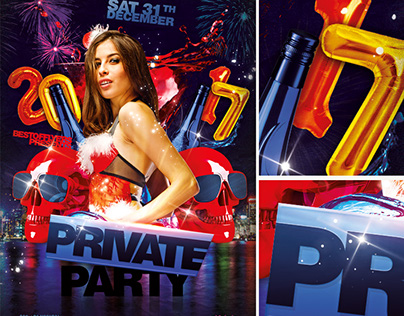 Private Party 2017 PSD Flyer Template