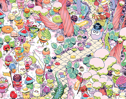 Candy Parade Artwork for PrettyUgly Exhibition