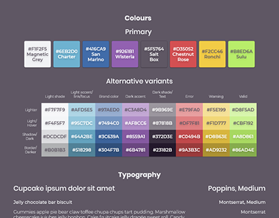 Design style guide for BIG
