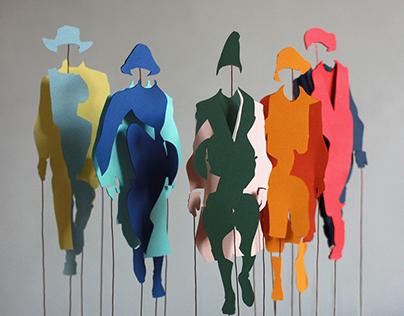 Menswear Paper Cutout