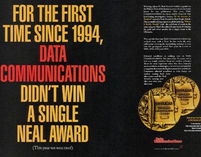 Data Communications Magazine Covers + Interior Spreads