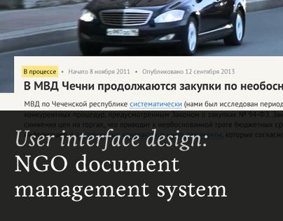 Document management system for anticorruption NGO