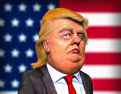 Caricature Donald Trump