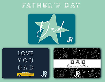 E-Gift Cards of Father's Day for Joy