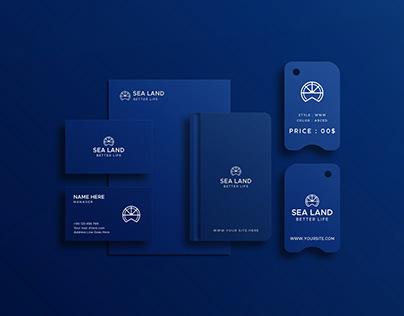 Blue Stationery Mockup Presentation PSD file