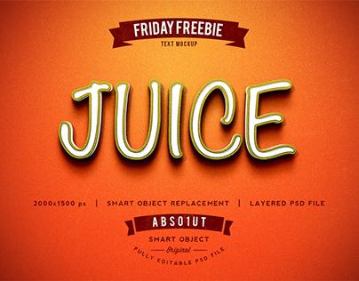 FRIDAY FREEBIE: Juice Photoshop Text Effect