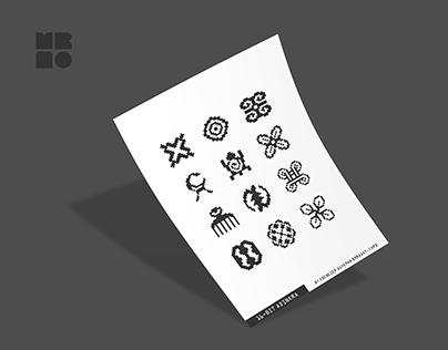 16-bit Adinkra Icons