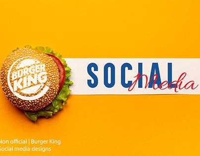 Burger king - Non official Social media designs