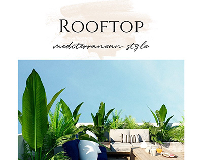 Rooftop - Mountain View October | Mediterranean style