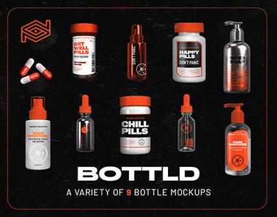 BOTTLD / 9 Bottle Mockups