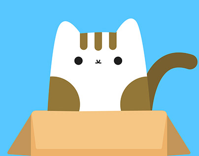 條紋貓與賓士貓-Lottie動畫