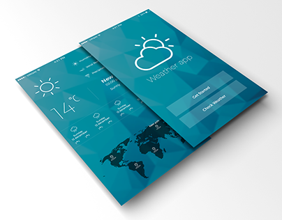 weather app IOS design concept