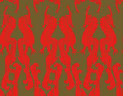 "Surface Pattern Design ""Dragon Dance"""