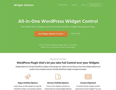 Landing Page - WordPress Widget Options Plugin
