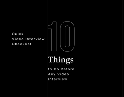 Infographic: Quick Video Inrerview Checklist