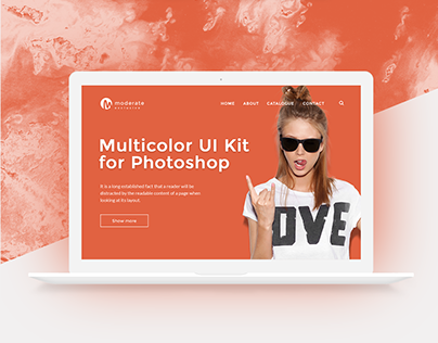 Moderate EXCLUSIVE - Multicolor UI-Kit PSD