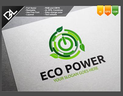 Eco Power Logo Template