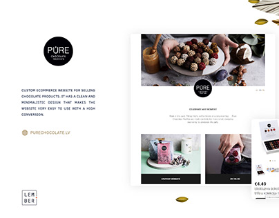 eCommerce website for selling chocolate products.