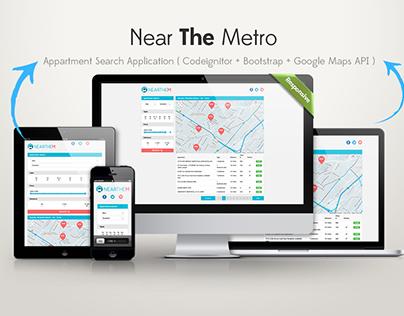 Near The Metro - CodeIgnitor,  Bootstrap, Goole Map API