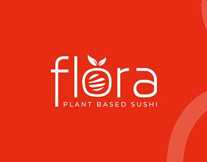 Flora - Plant Based Sushi - Logo Design