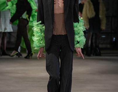 tailored blazer with silk details