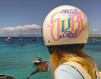 LETTERING on helmet - Surf