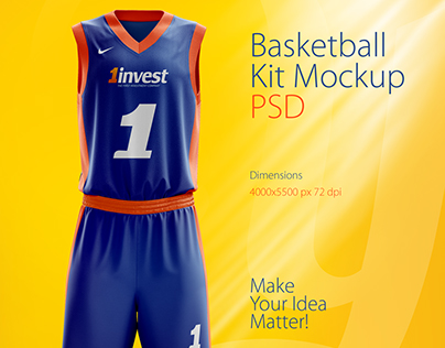 Basketball Kit Mockup PSD