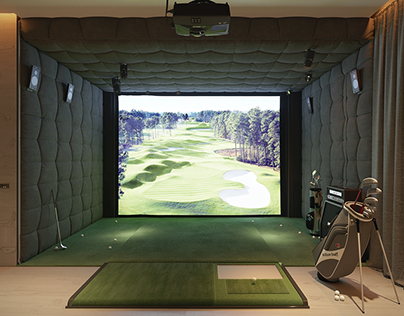 Golf simulator in Almaty, Kazakhstan.