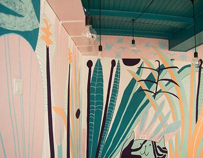 Mural at Falafel etc.