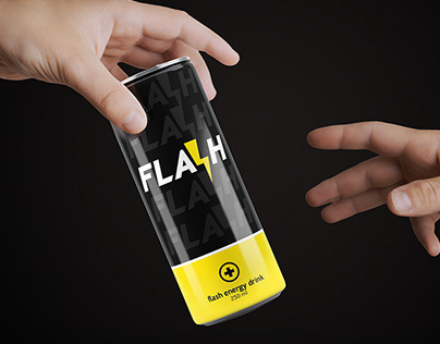 Flash energy drink: poster & Corporate Identity