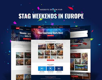 Website design for organised Stag & Hen Weekends