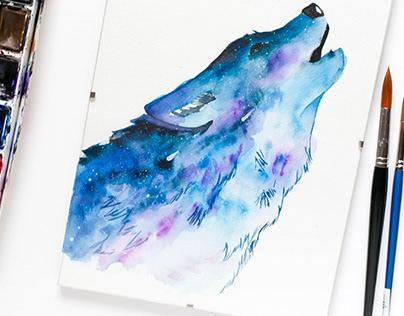 Animal watercolor serie