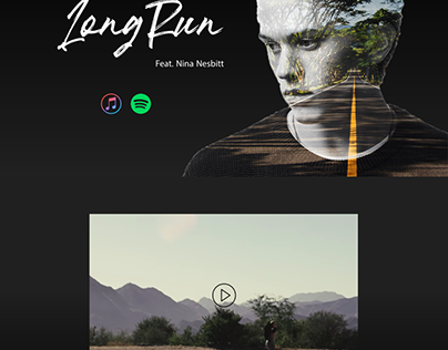 Double Exposure Landing Page