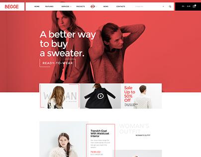 Begge ver.02 - Coolest Fashion Shop PSD & HTML