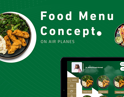 Food Menu Concept.
