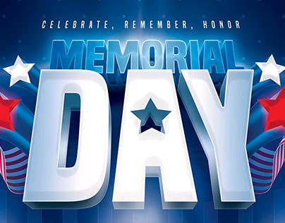 Memorial Day - Flyer Template