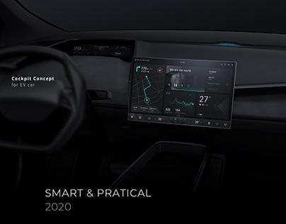 Smart & Pratical—UX/UI concept for EV car
