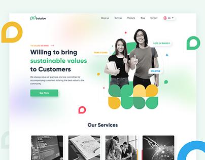 PD Solution - About Us Website Design